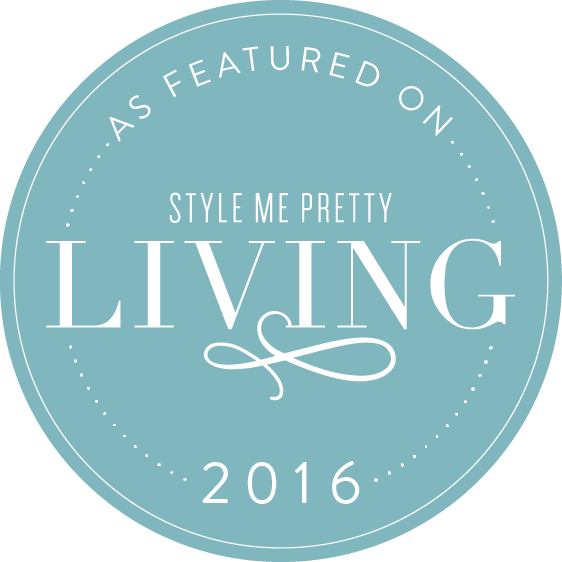 Style Me Pretty Living Badge