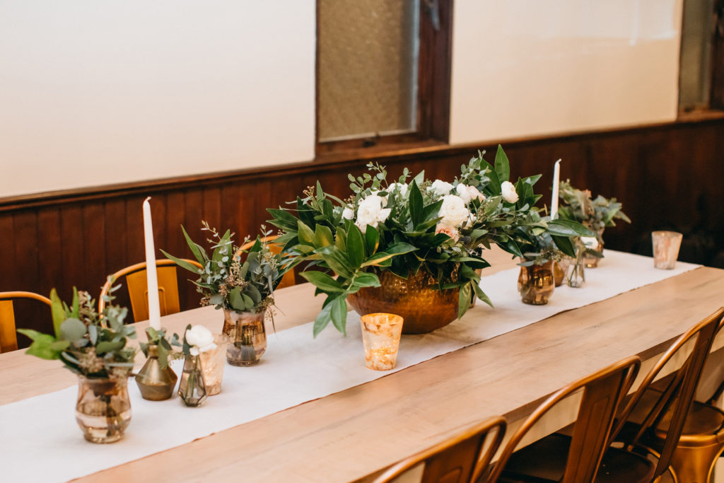 Tabletops - Look Book, Decorated tablescape with beautiful greenery