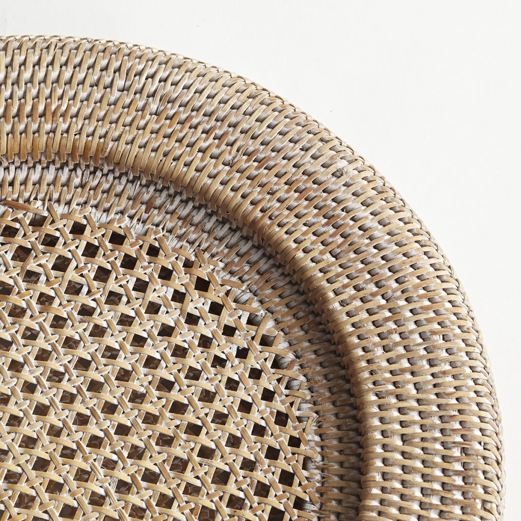 Biscayne Rattan Chargers - Detail