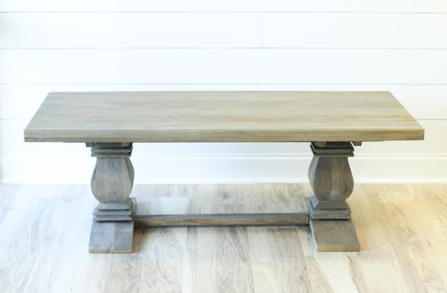 Corinth Coffee Table in front of white shiplap wall