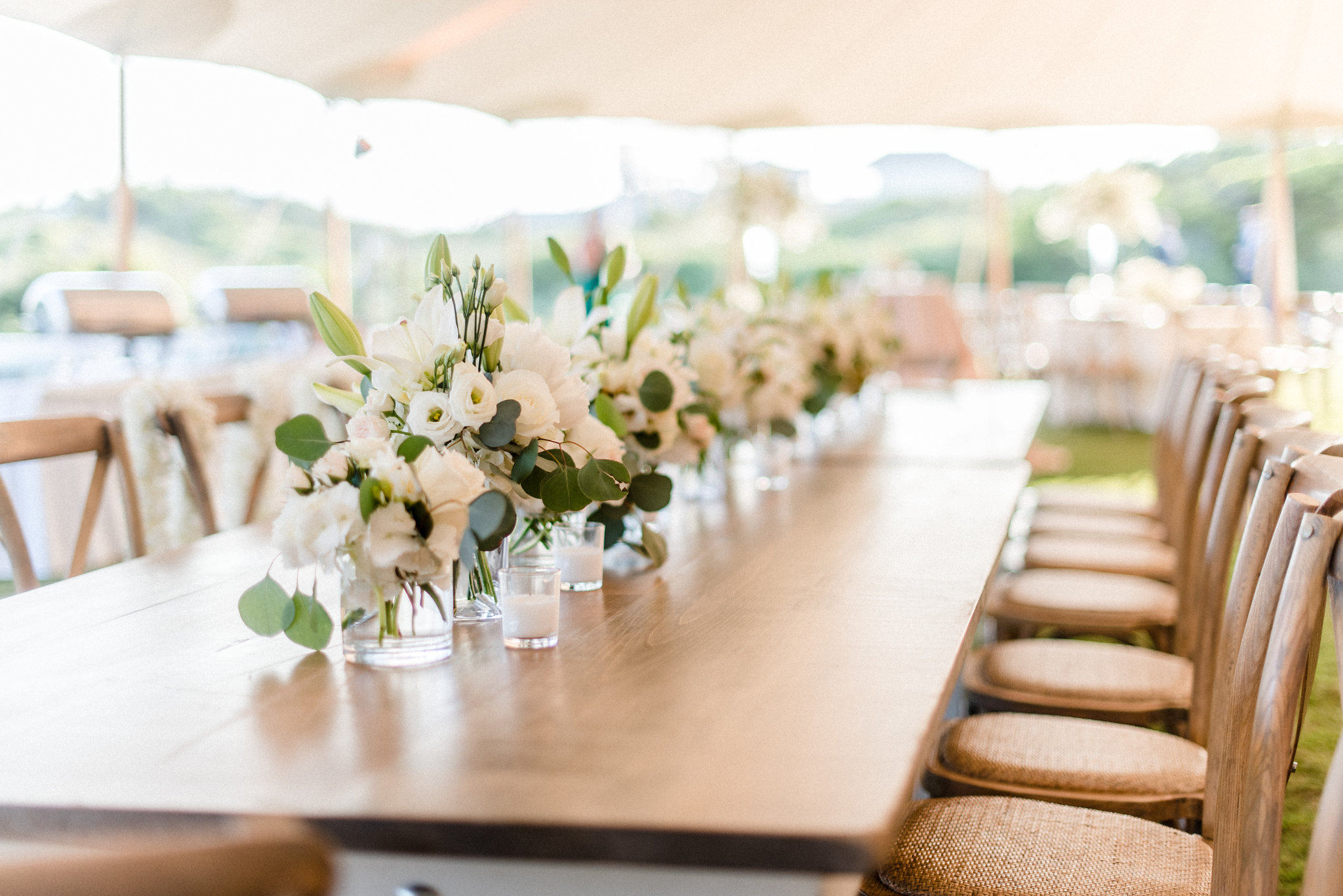 Signature Farm Table With Flowers