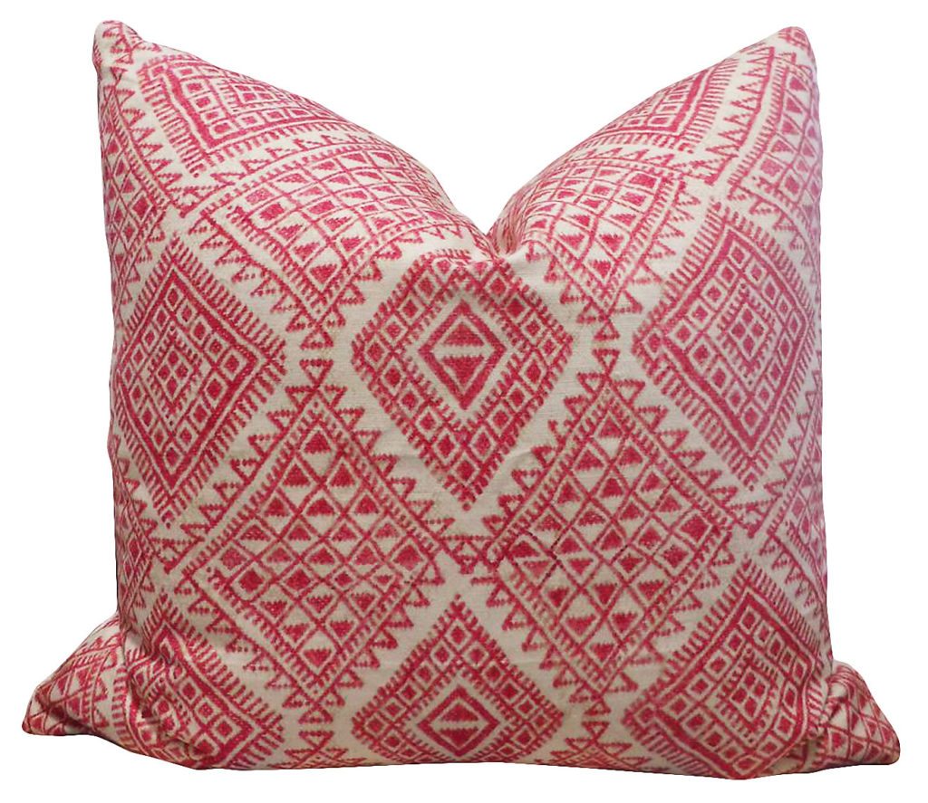 Pillows + Throws + Rugs, Pink Tribal Pillow