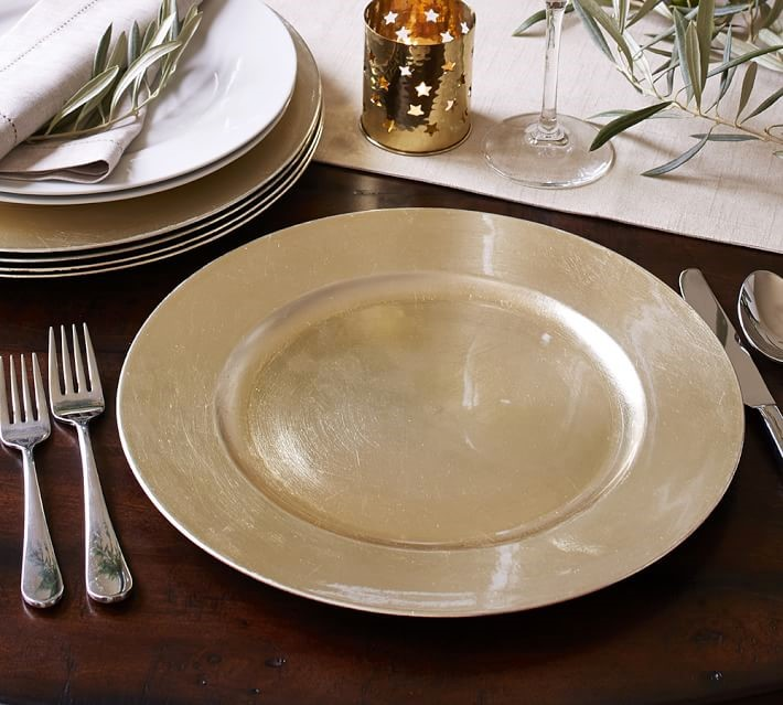 Tableware + Flatware, Champagne Chargers