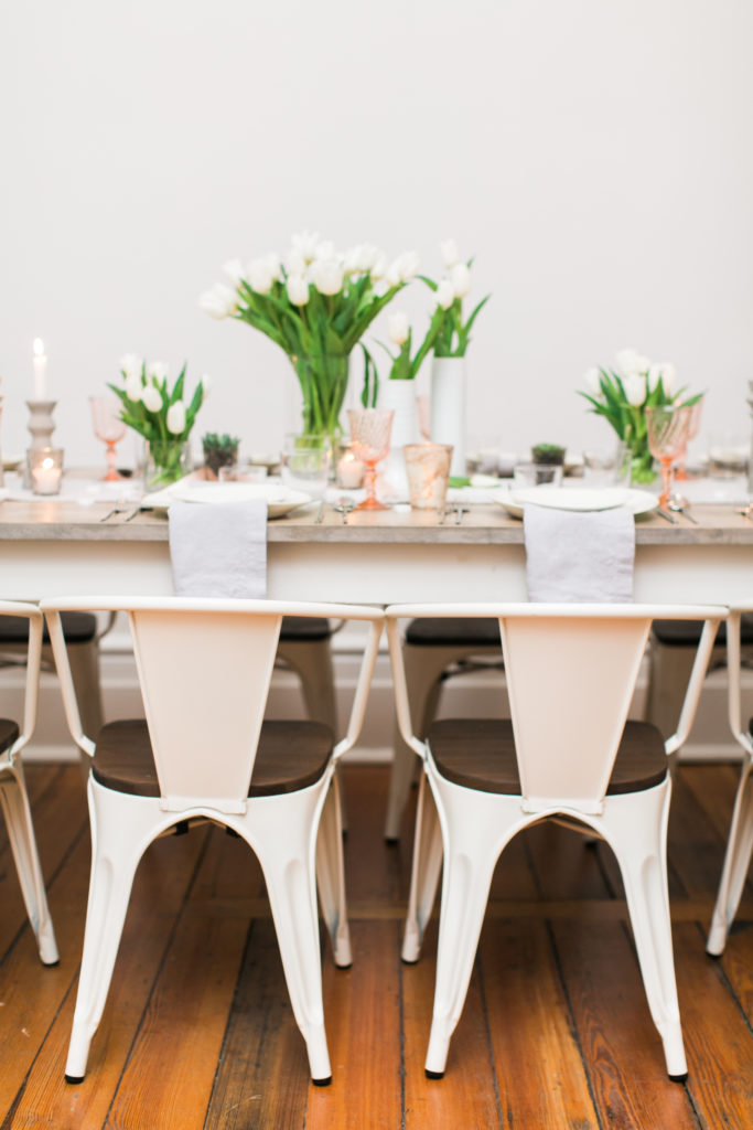 Guest Seating - Look Book, Asheville Mod Chair at Cottage Luxe Signature Farm Table