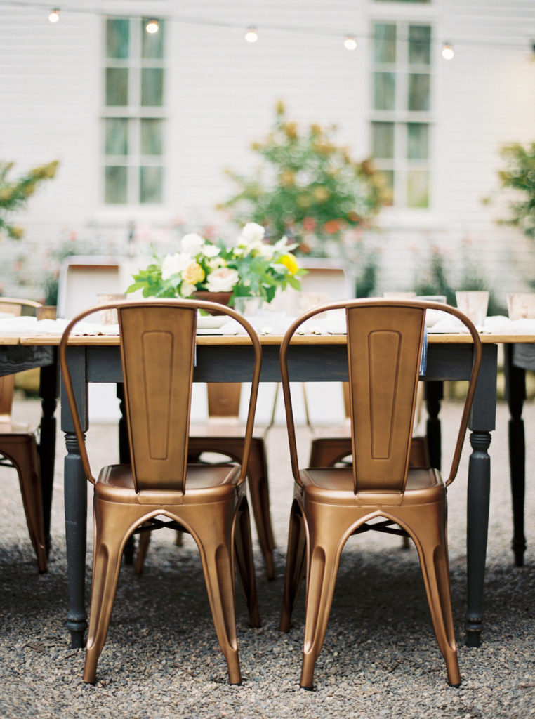 Guest Seating - Look Book, Detail of copper guest seating