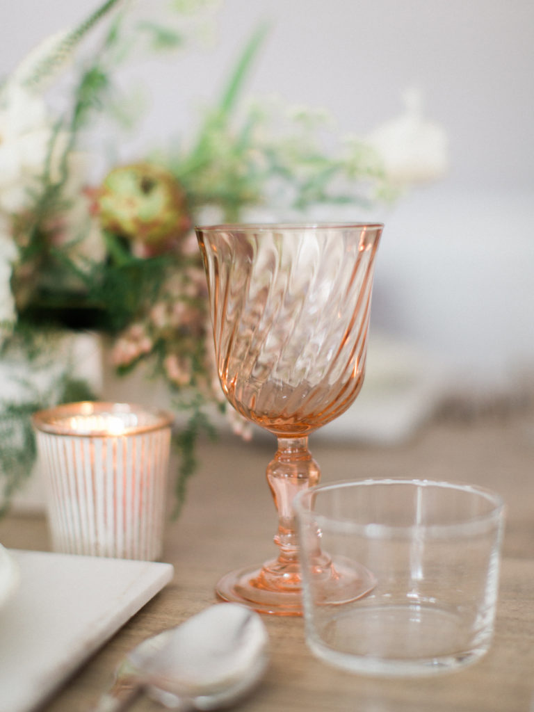 Tabletops, Look Book, Rose Wine Glass