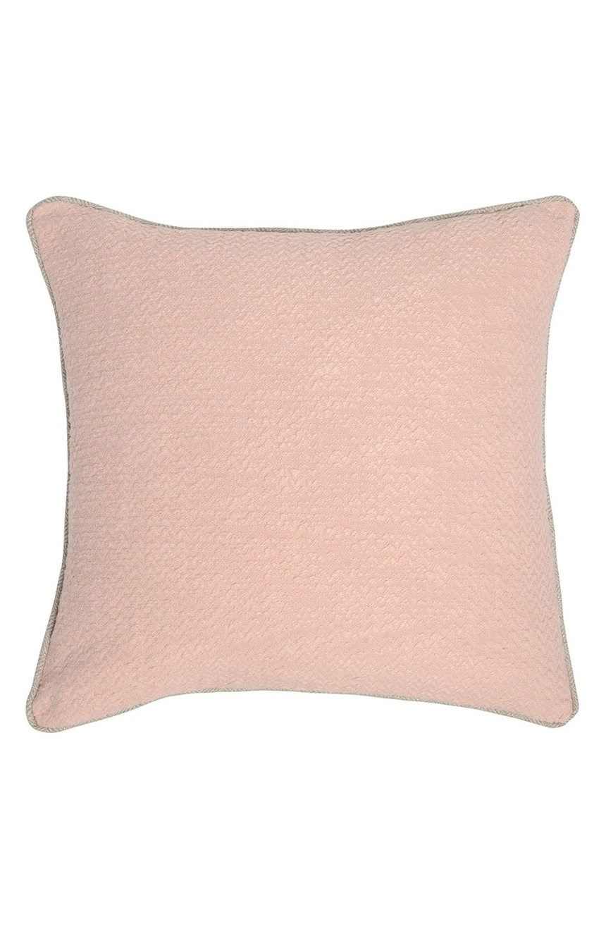 Pillows + Throws + Rugs, Pale Pink & Taupe Herringbone Pillow