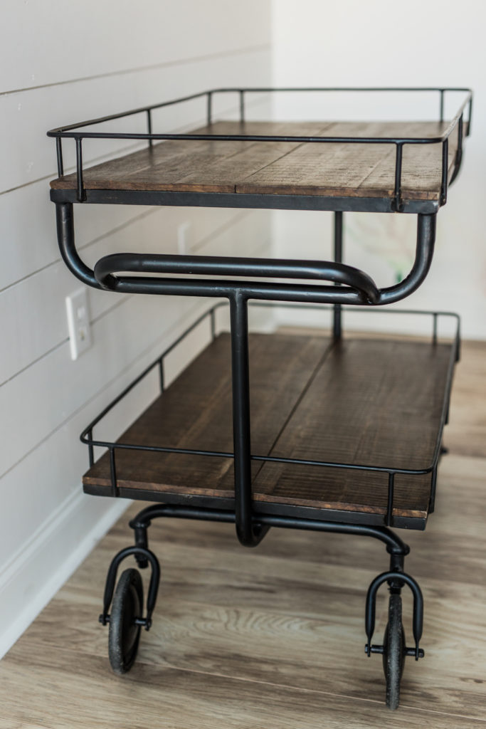 Bars + Bar Carts, Henry Bar Cart Side Detail
