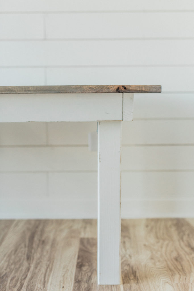 Cottage Luxe Signature Farm Table Leg Detail