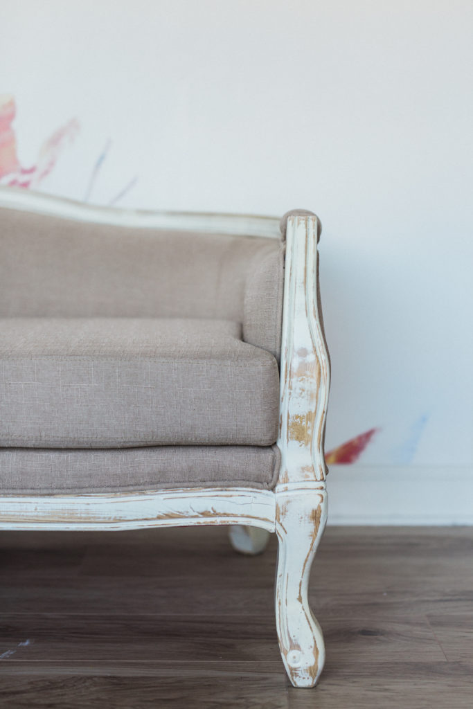 Upholstered Furniture, Mimi loveseat side detail