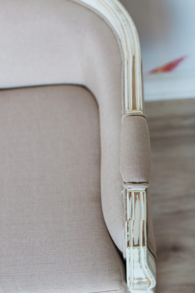 Upholstered Furniture, Mimi Loveseat arm detail