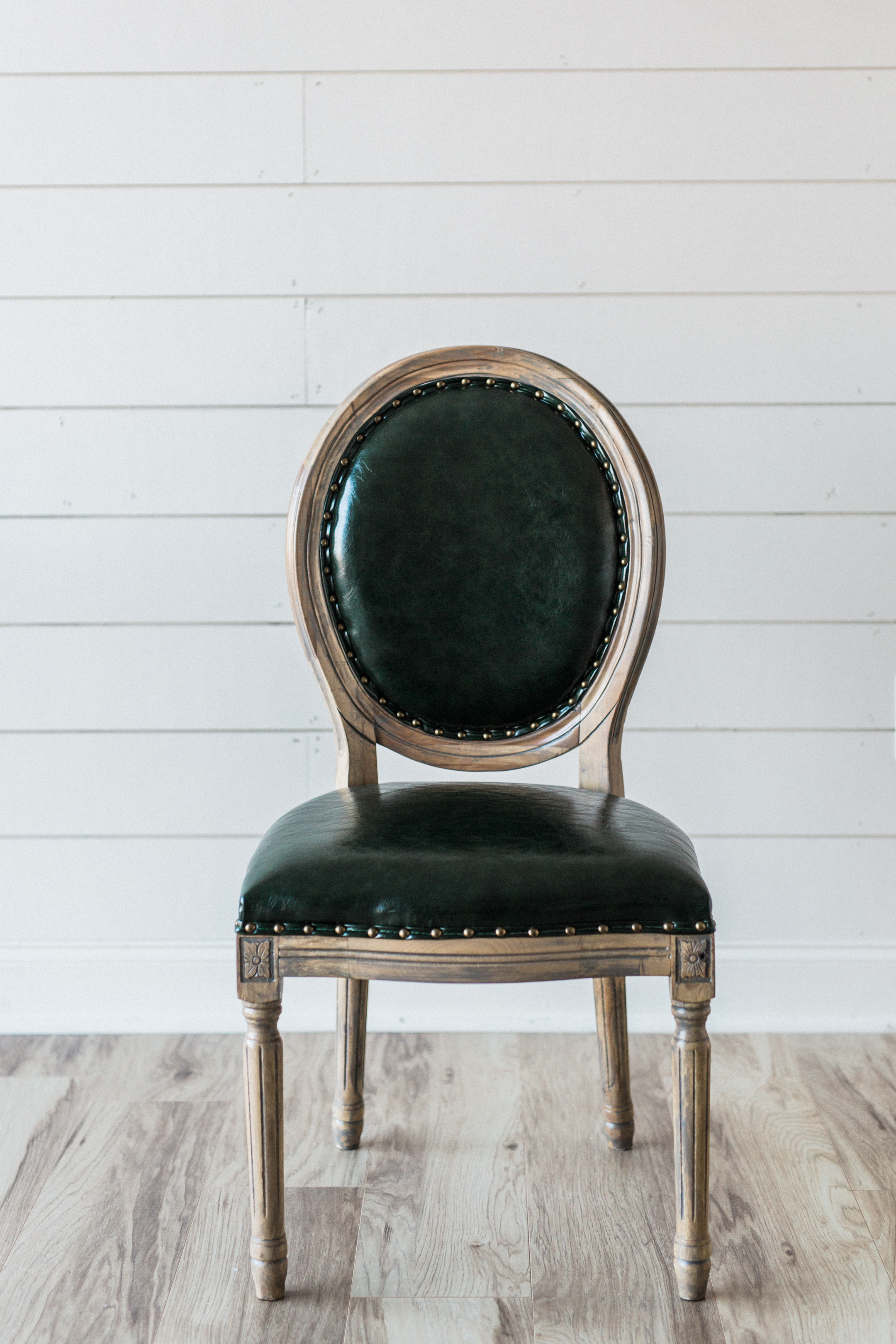 Accent Chairs, Louis Round Back Chair - Green