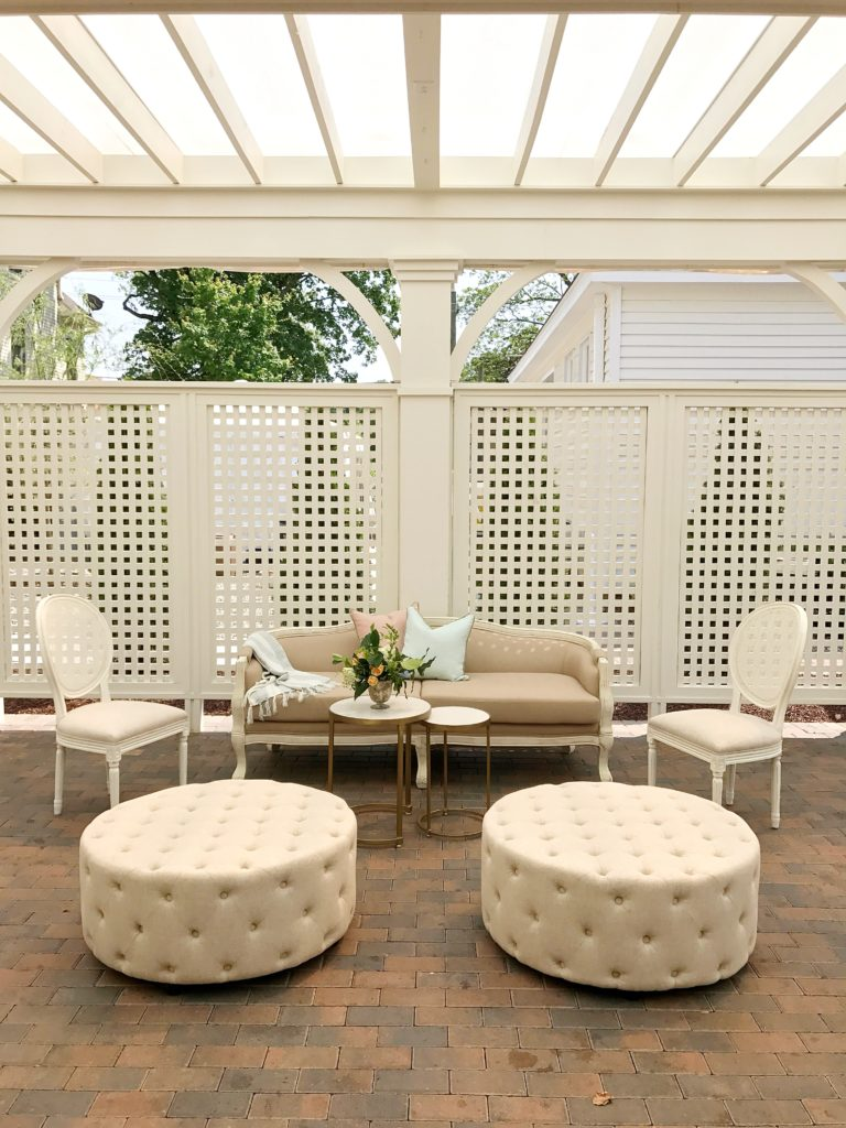 Cottage Luxe {Boutique Event Rentals} Custom Lounge Areas example