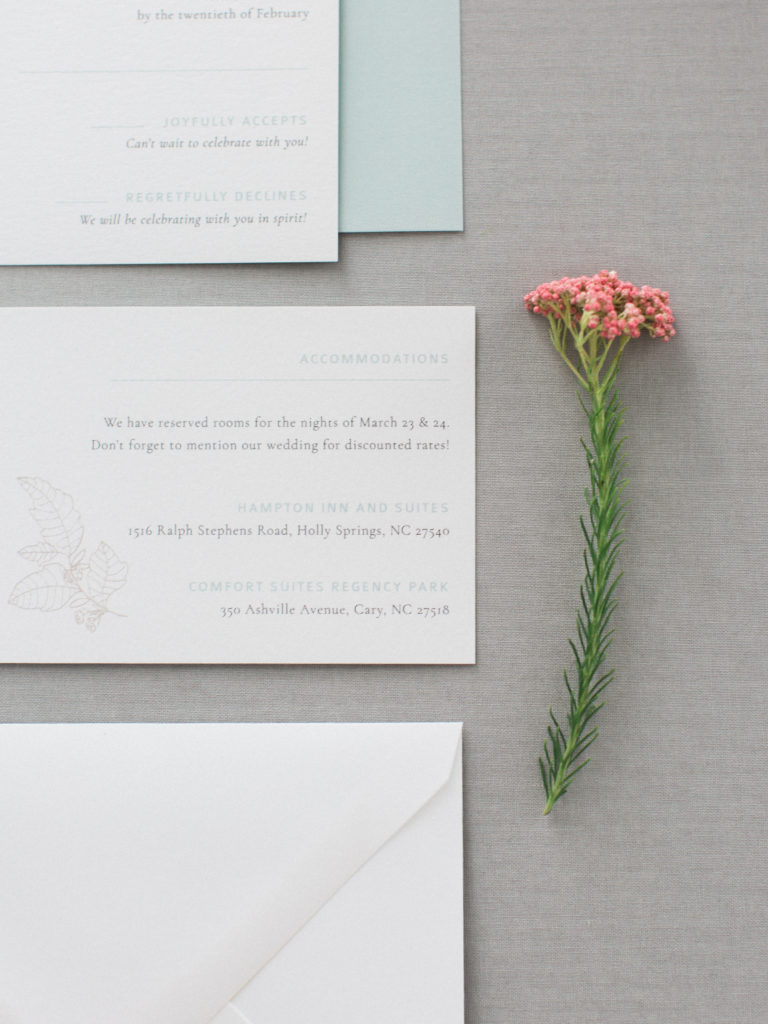 Bridal Pop Up Stationary with flower