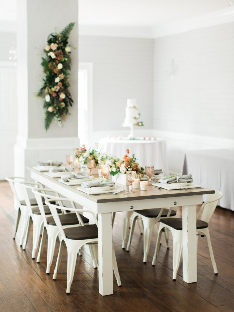 Bridal Pop Up Featuring Our Signature Farm Table