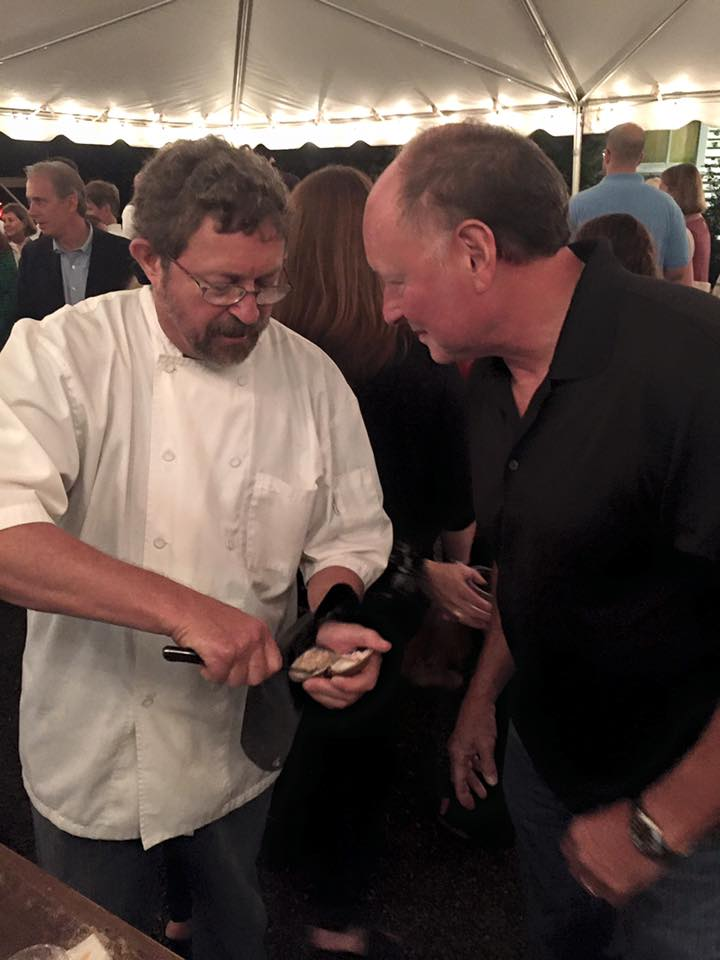 Joe with Chef Frank