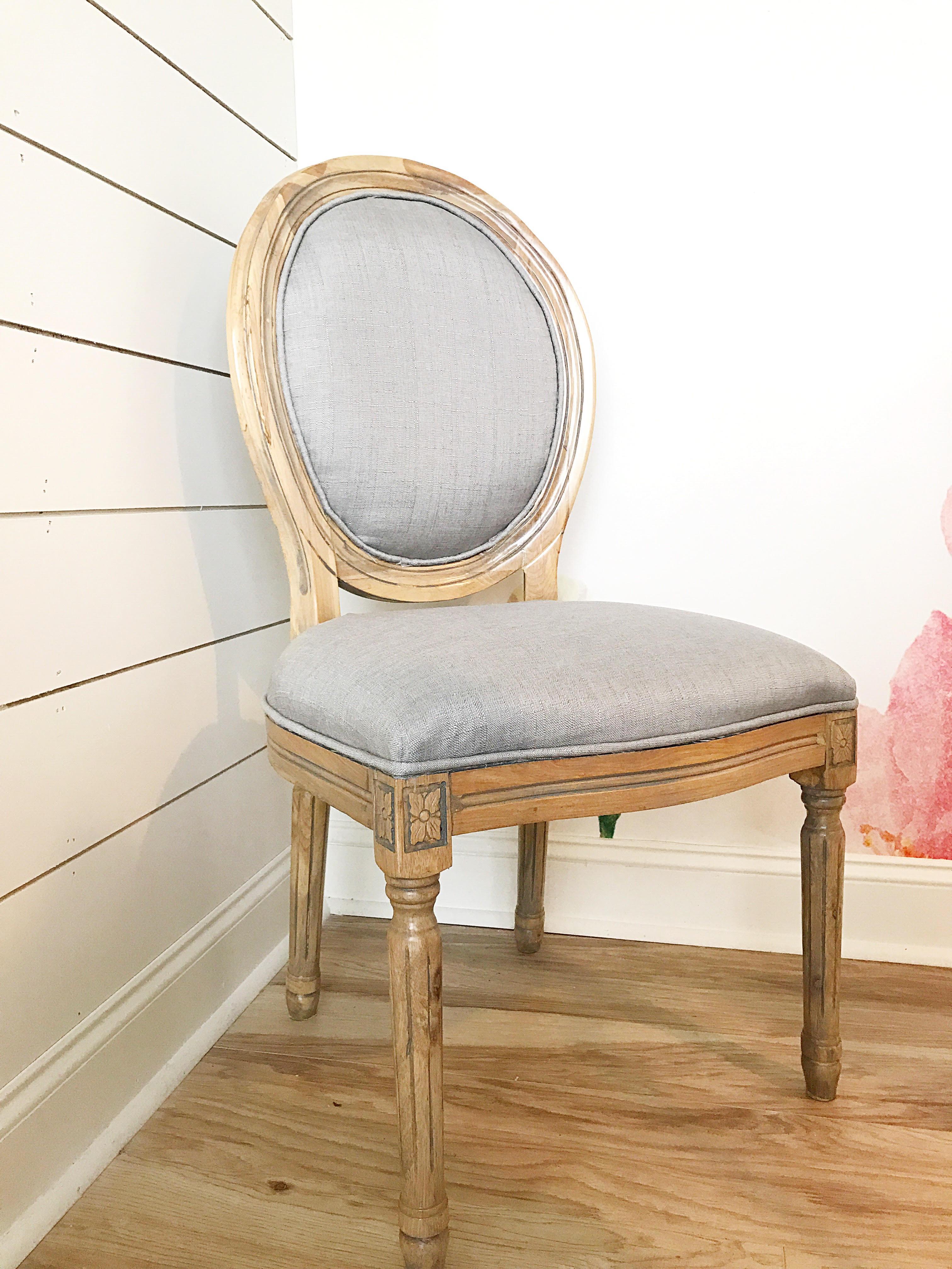 Louis Round Back Chair U2013 Grey
